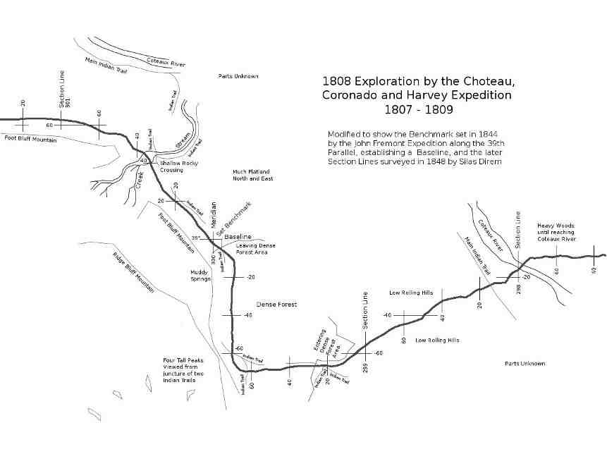 1808 Exploration by CC&H Expedition Map Image